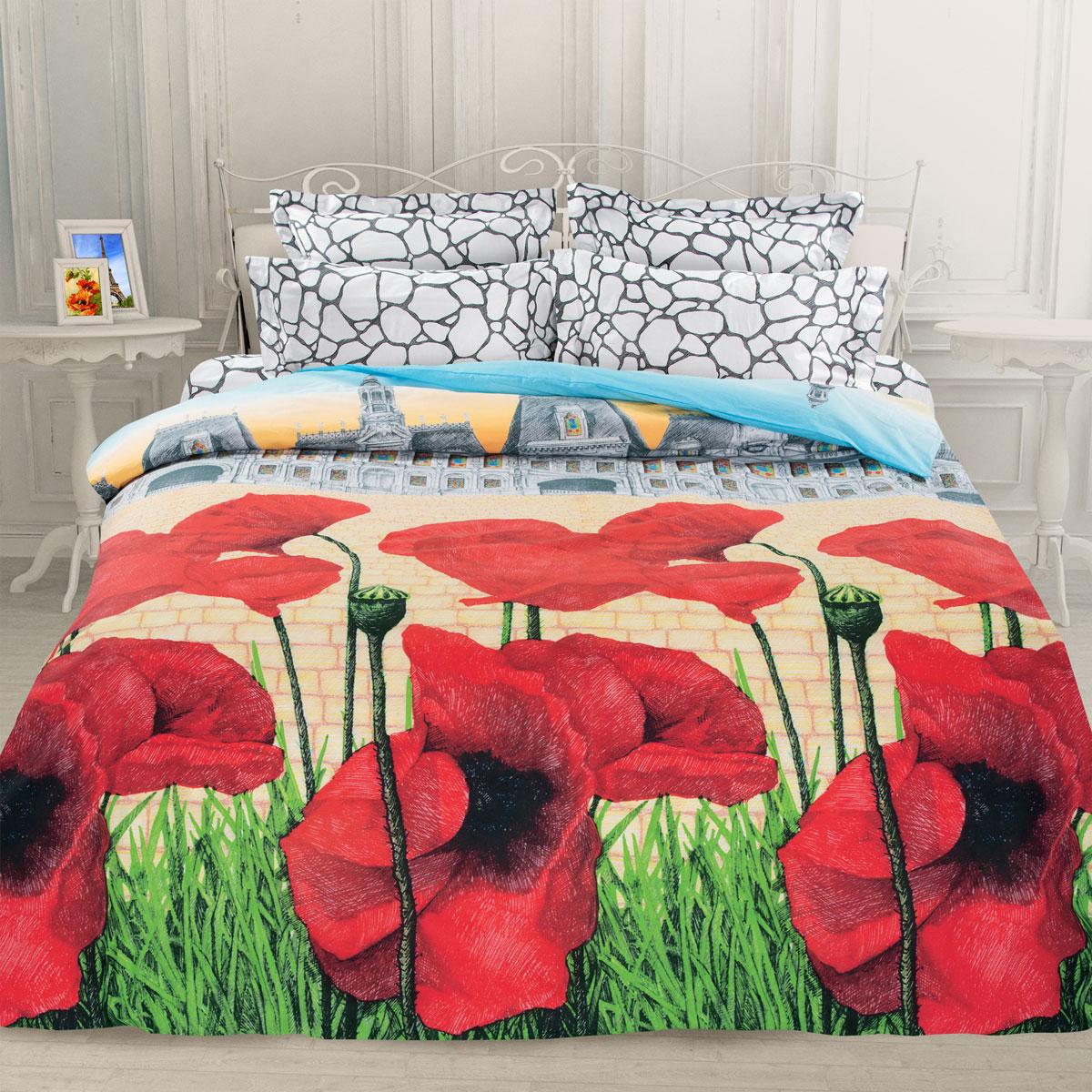 Комплект белья Унисон Французская сказка, семейный, наволочки 70 х 70, цвет: красный. 276903CA-3505Постельное белье торговой марки «Унисон Биоматин» - это домашний текстиль премиум класса с эксклюзивными дизайнами в разнообразных стилистических решениях. Комплекты данной серии выполнены из ткани «биоматин» - это 100% хлопок высочайшего качества, мягкий, тонкий и легкий, но при этом прочный, долговечный и очень практичный, с повышенным показателем износостойкости, обладающий грязе- и пылеотталкивающими свойствами, долго сохраняющий чистоту и свежесть постельного белья, гипоаллергенный.
