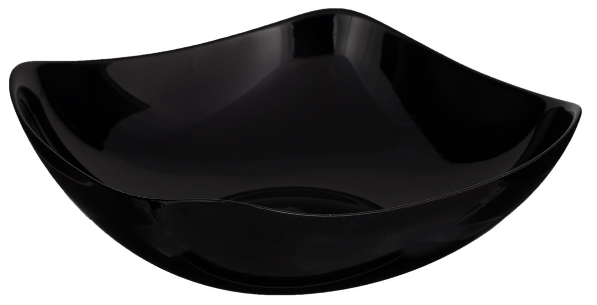 Салатник Luminarc Yalta Black, 25 х 25 смH0247Элегантный салатник Luminarc Yalta Black, изготовленный из ударопрочного стекла, прекрасно подойдет для подачи различных блюд: закусок, салатов или фруктов. Такой салатник украсит ваш праздничный или обеденный стол, а оригинальное исполнение понравится любой хозяйке. Размер салатника (по верхнему краю): 25 х 25 см.Высота салатника: 8,7 см.