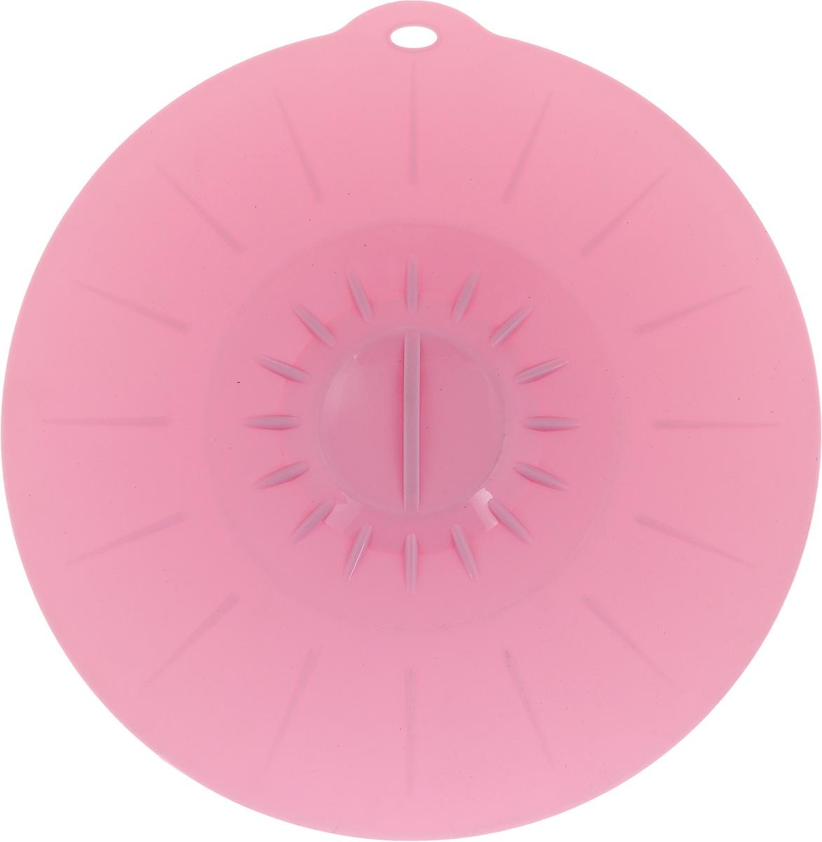 Крышка вакуумная Идея, силиконовая, цвет: розовый. Диаметр 26 смKRY-26_розовыйВакуумная крышка Идея, выполненная из пищевого силикона, предназначена для герметичного закрытия любой посуды. Крышка плотно прилегает к краям емкости, ограничивая доступ воздуха внутрь, благодаря этому ваши продукты останутся свежими гораздо дольше. Основные свойства: - выдерживает температуру от -40°С до +240°С, - невозможно разбить, - легко моется, - не деформируется при хранении в свернутом виде, - имеет долгий срок службы, сохраняя свой первоначальный вид, - не выделяет вредных веществ при нагревании или охлаждении, - не впитывает запахи, - не вступает в химическую реакцию с продуктами, - безопасна при использовании в микроволновой печи, в духовке и морозильной камере.Такая крышка станет незаменимым помощником на вашей кухне.