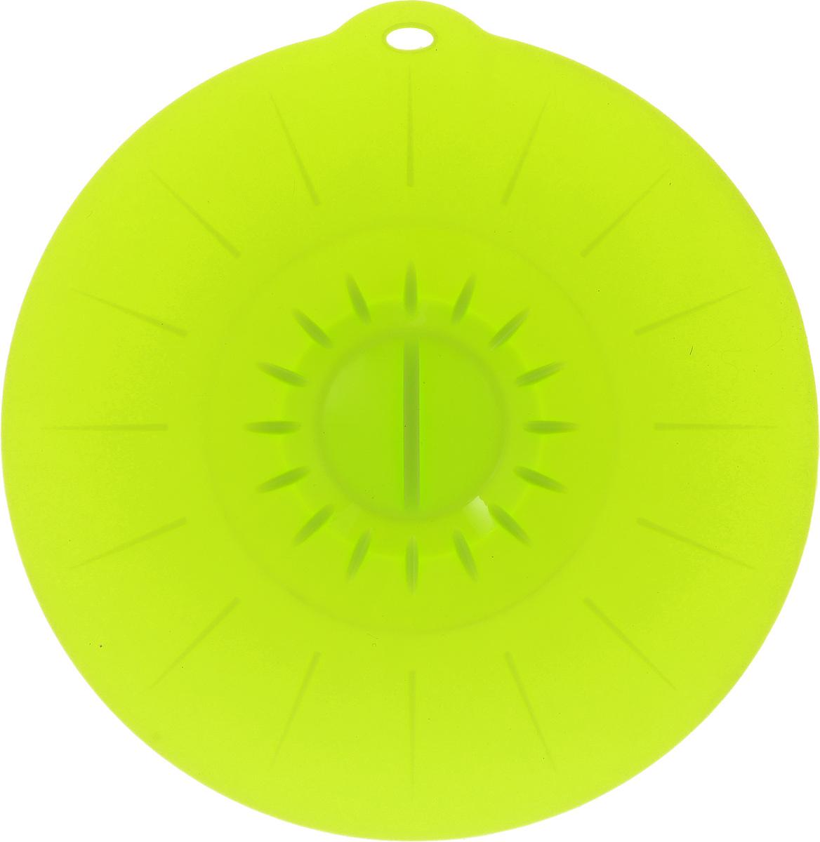 Крышка вакуумная Идея, силиконовая, цвет: салатовый. Диаметр 26 см115510Вакуумная крышка Идея, выполненная из пищевого силикона, предназначена для герметичного закрытия любой посуды. Крышка плотно прилегает к краям емкости, ограничивая доступ воздуха внутрь, благодаря этому ваши продукты останутся свежими гораздо дольше. Основные свойства: - выдерживает температуру от -40°С до +240°С, - невозможно разбить, - легко моется, - не деформируется при хранении в свернутом виде, - имеет долгий срок службы, сохраняя свой первоначальный вид, - не выделяет вредных веществ при нагревании или охлаждении, - не впитывает запахи, - не вступает в химическую реакцию с продуктами, - безопасна при использовании в микроволновой печи, в духовке и морозильной камере.Такая крышка станет незаменимым помощником на вашей кухне.