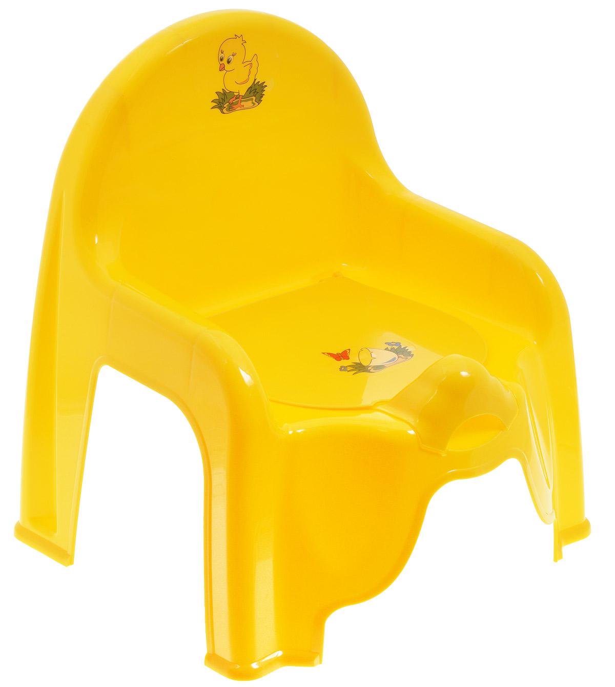Idea Горшок-стульчик детский с крышкой цвет желтый