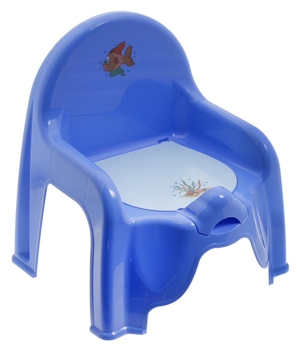 Idea Горшок-стульчик детский с крышкой цвет сиреневый