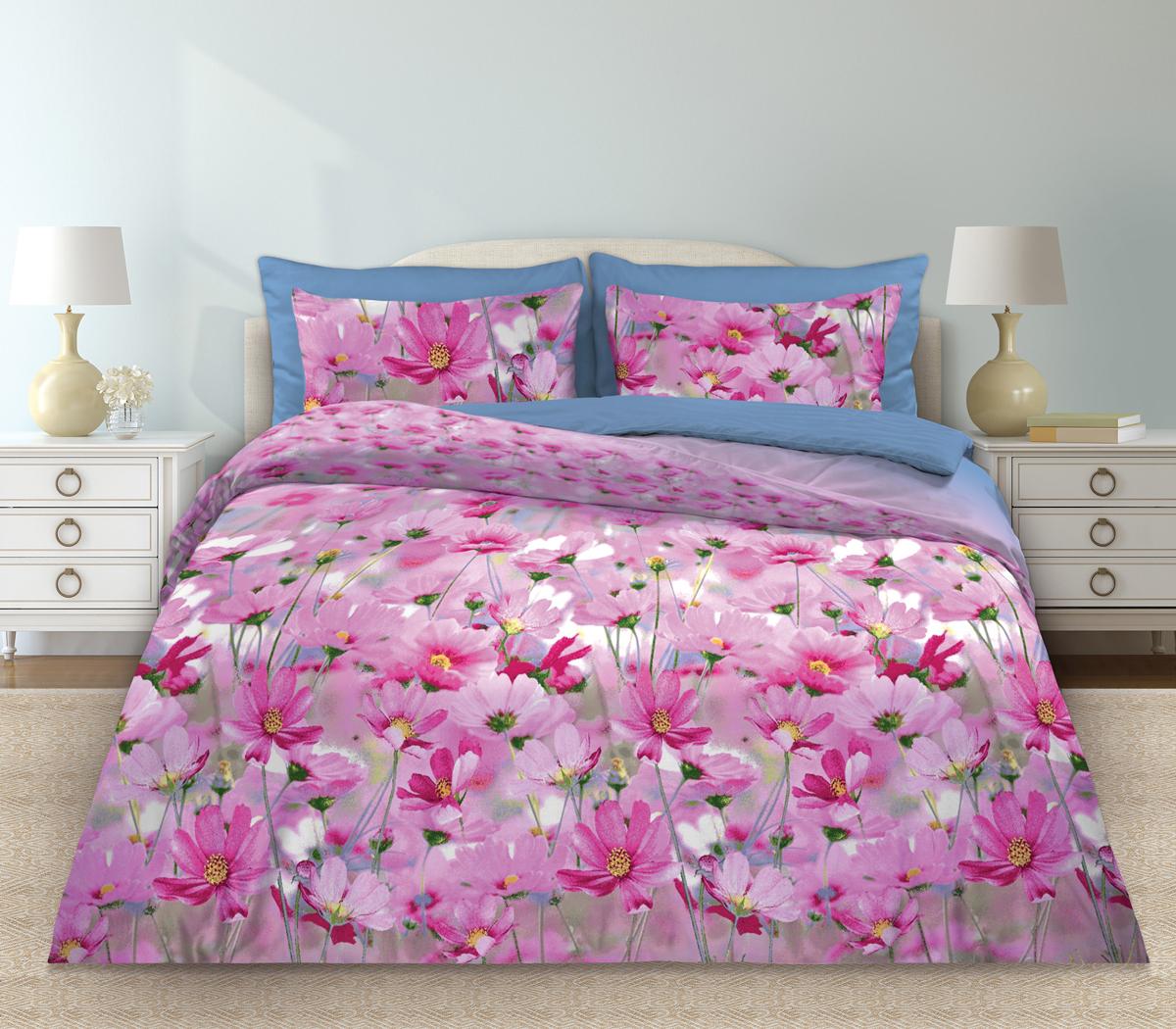 Комплект белья Любимый дом Скарлетт, 1,5 спальное, наволочки 70 х 70, цвет: розовый. 331087K100Комплект постельного белья коллекции «Любимый дом» - выполнен из высококачественной ткани из 100% хлопка. Такое белье абсолютно натуральное, гипоаллергенное, соответствует строжайшим экологическим нормам безопасности, комфортное, дышащее, не нарушает естественные процессы терморегуляции, прочное, не линяет, не деформируется и не теряет своих красок даже после многочисленных стирок, а также отличается хорошей износостойкостью.