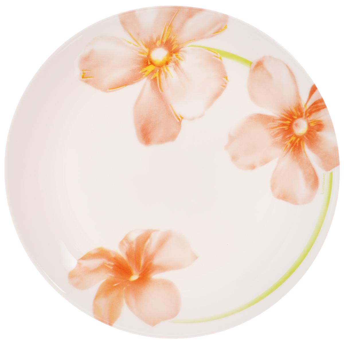 Тарелка десертная Luminarc Sweet Impression, диаметр 19 см115510Десертная тарелка Luminarc Sweet Impression, изготовленная из ударопрочного стекла, имеет изысканный внешний вид. Такая тарелка прекрасно подходит как для торжественных случаев, так и для повседневного использования. Идеальна для подачи десертов, пирожных, тортов и многого другого. Она прекрасно оформит стол и станет отличным дополнением к вашей коллекции кухонной посуды. Диаметр тарелки (по верхнему краю): 19 см.