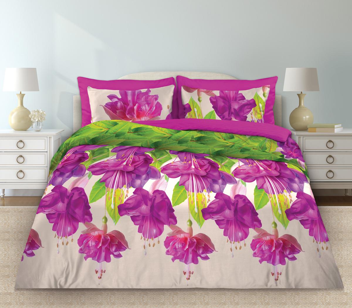 Комплект белья Любимый дом Фуксия, 1,5-спальный, наволочки 70х70879-1Комплект постельного белья коллекции Любимый дом выполнен из высококачественной ткани - из 100% хлопка. Такое белье абсолютно натуральное, гипоаллергенное, соответствует строжайшим экологическим нормам безопасности, комфортное, дышащее, не нарушает естественные процессы терморегуляции, прочное, не линяет, не деформируется и не теряет своих красок даже после многочисленных стирок, а также отличается хорошей износостойкостью.
