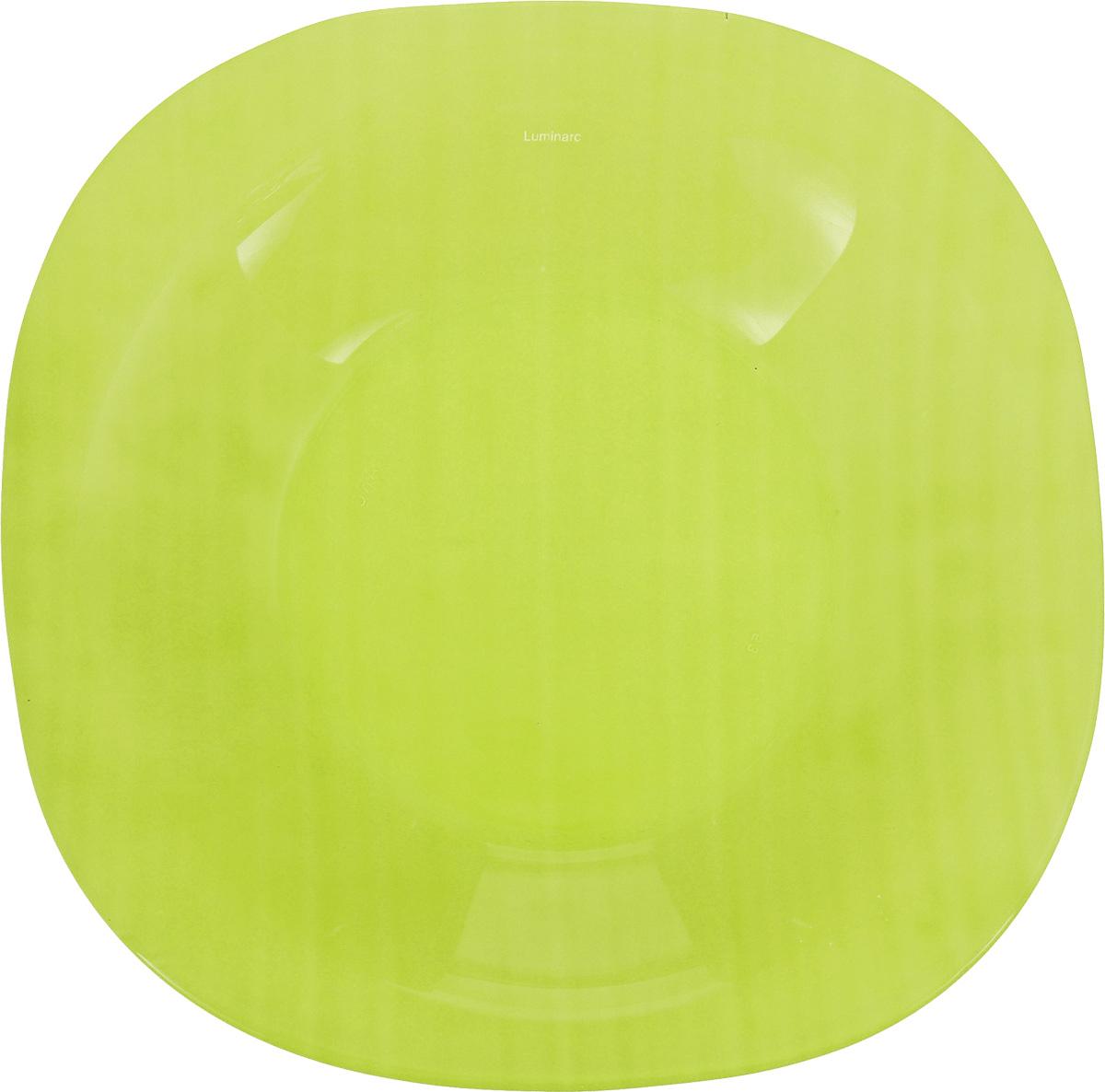 Тарелка глубокая Luminarc Colorama, цвет: зеленый, 20,5 х 20,5 см115510Глубокая тарелка Luminarc Colorama выполнена изударопрочного стекла и оформлена в классическом стиле.Изделие сочетает в себе изысканный дизайн с максимальнойфункциональностью. Она прекрасно впишется винтерьер вашей кухни и станет достойным дополнениемк кухонному инвентарю. Тарелка Luminarc Colorama подчеркнет прекрасный вкус хозяйкии станет отличным подарком. Размер (по верхнему краю): 20,5 х 20,5 см.