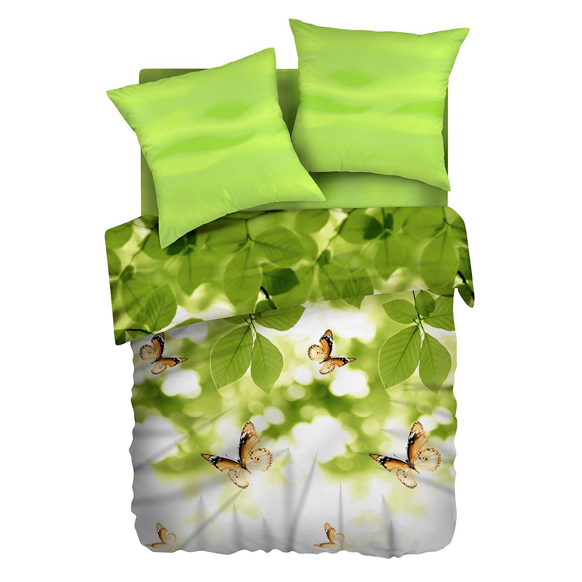 Комплект белья Романтика Бабочка желаний, 1,5-спальный, наволочки 70х70391602Бязевое постельное белье состоит из 100% хлопка самого простого полотняного переплетения из достаточно толстых, но мягких нитей. Стоит постельное белье из этой ткани не намного дороже поликоттона или полиэфира, но приятней на ощупь и лучше пропускают воздух. Благодаря современным технологиям окраски, простыни не теряют свой цвет даже после множества стирок. По своим свойствам бязь уступает сатину, что окупается низкой стоимостью и неприхотливостью в уходе. Атмосфера любви и гармонии в вашем доме – это Романтика.