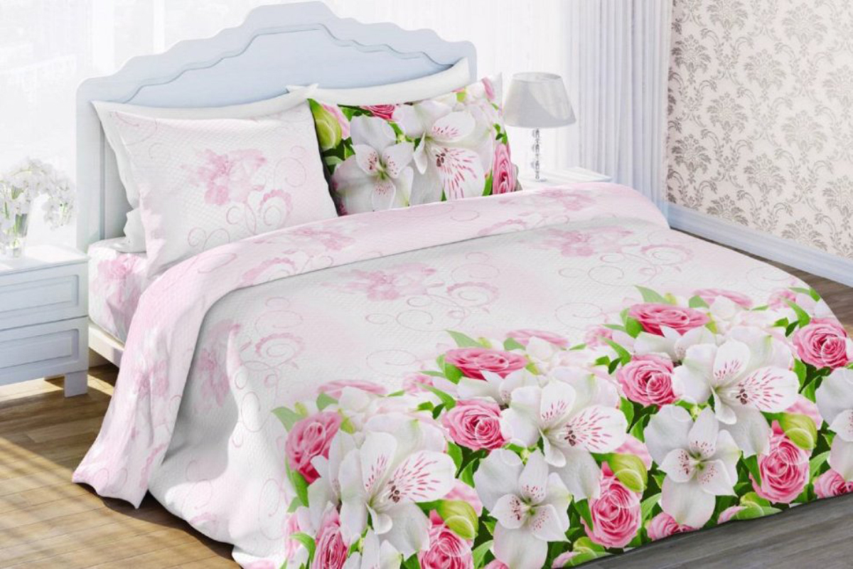 Комплект белья Любимый дом Нежный сон, 2-спальный, наволочки 70х70FA-5125 WhiteКомплект постельного белья коллекции Любимый дом выполнен из высококачественной ткани - из 100% хлопка. Такое белье абсолютно натуральное, гипоаллергенное, соответствует строжайшим экологическим нормам безопасности, комфортное, дышащее, не нарушает естественные процессы терморегуляции, прочное, не линяет, не деформируется и не теряет своих красок даже после многочисленных стирок, а также отличается хорошей износостойкостью.