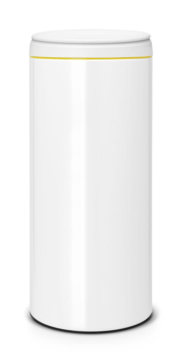 Бак мусорный Brabantia FlipBin, цвет: белый, 30 л531-105Бак Brabantia FlipBin имеет не только превосходную лицевую сторону, но и удивительную изнанку. Создан, чтобы удивлять и радовать: одно движение пальцем и крышка сама поднимается вверх, а внутри еще один сюрприз - внутреннее ведро теперь имеет цвет! Ну и последний штрих - цветной ободок снаружи для свежих эффектных мазков в палитру вашего интерьера! Особенности: Прост в обращении - открывается одним кончиком пальца; При открывании крышка не задевает стену; Удобная очистка - съемное пластиковое ведро с ручками; Всегда опрятный вид - идеально подходящие по размеру мешки для мусора с завязками (размер G); Защитный нижний обод.
