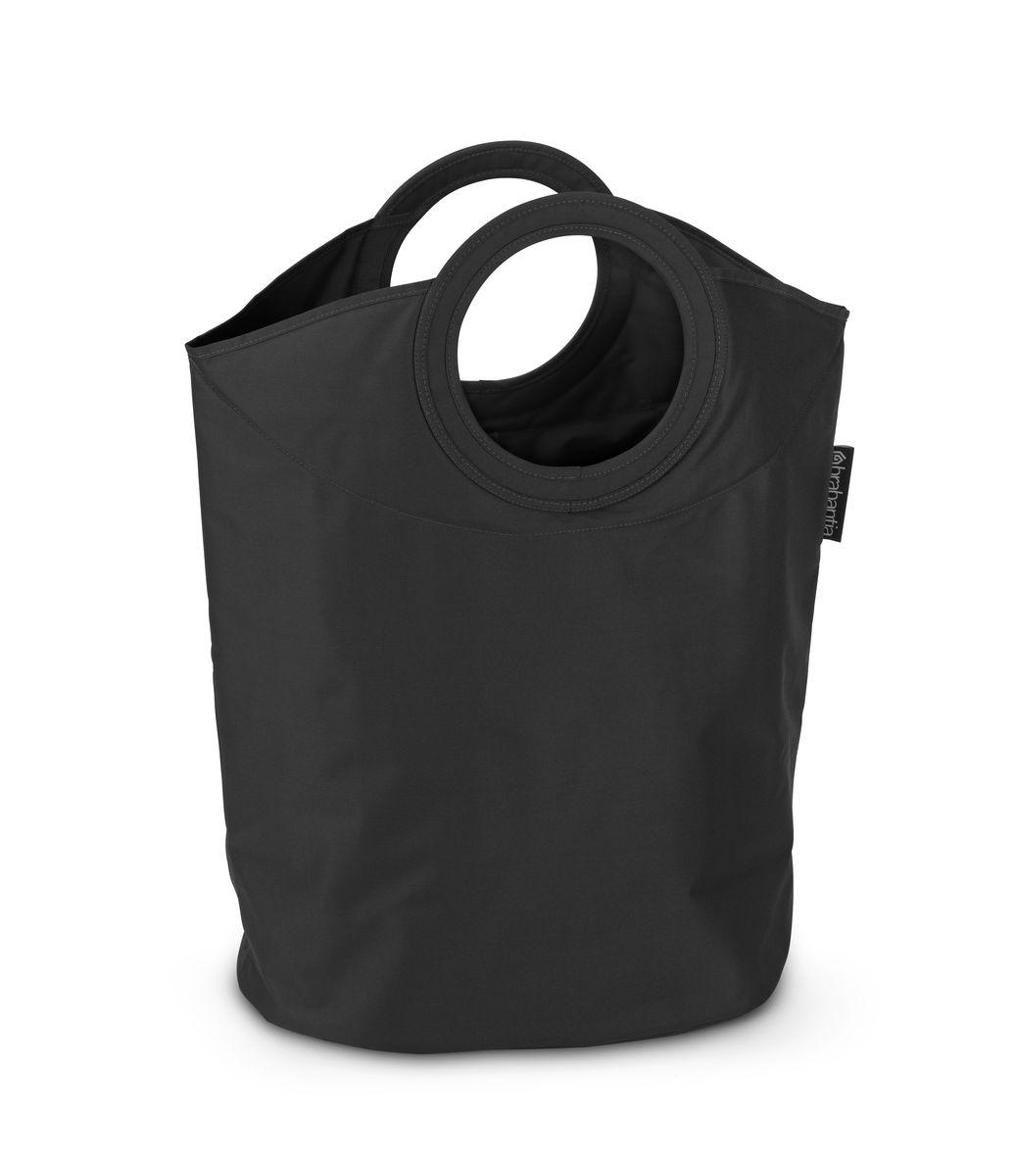 Сумка для белья Brabantia, цвет: черный, 50 л. 101601Z-0307Оригинальная сумка для белья Brabantia экономит место и превращает вашу стирку в увлекательное занятие. С помощью складывающихся магнитных ручек сумка закрывается и превращается в корзину для белья с загрузочным отверстием. Собрались стирать? Поднимите ручки, и ваша сумка готова к использованию. Особенности: Загрузочное отверстие для быстрой загрузки белья - просто сложите магнитные ручки; Большие удобные ручки для переноски; Удобно загружать белье в стиральную машину - большая вместимость и широкое отверстие; 2 года гарантии Brabantia; Объем 50 л.