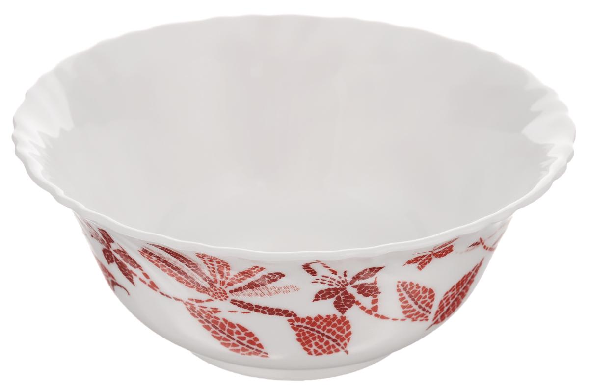 Салатник Luminarc Romancia, диаметр 12 смFS-91909Салатник Luminarc Romancia, изготовленный из высококачественного стекла, прекрасно впишется в интерьер вашей кухни и станет достойным дополнением к кухонному инвентарю. Салатник оформлен ярким рисунком и имеет изысканный внешний вид. Такой салатник не только украсит ваш кухонный стол и подчеркнет прекрасный вкус хозяйки, но и станет отличным подарком.Диаметр по верхнему краю: 12 см.