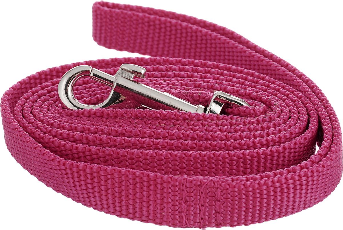 Поводок капроновый для собак Аркон, цвет: розовый, ширина 1,5 см, длина 1,5 мш2еПоводок для собак Аркон изготовлен из высококачественного цветного капрона и снабжен металлическим карабином. Изделие отличается не только исключительной надежностью и удобством, но и привлекательным современным дизайном.Поводок - необходимый аксессуар для собаки. Ведь в опасных ситуациях именно он способен спасти жизнь вашему любимому питомцу. Иногда нужно ограничивать свободу своего четвероногого друга, чтобы защитить его или себя от неприятностей на прогулке. Длина поводка: 1,5 м.Ширина поводка: 1,5 см.