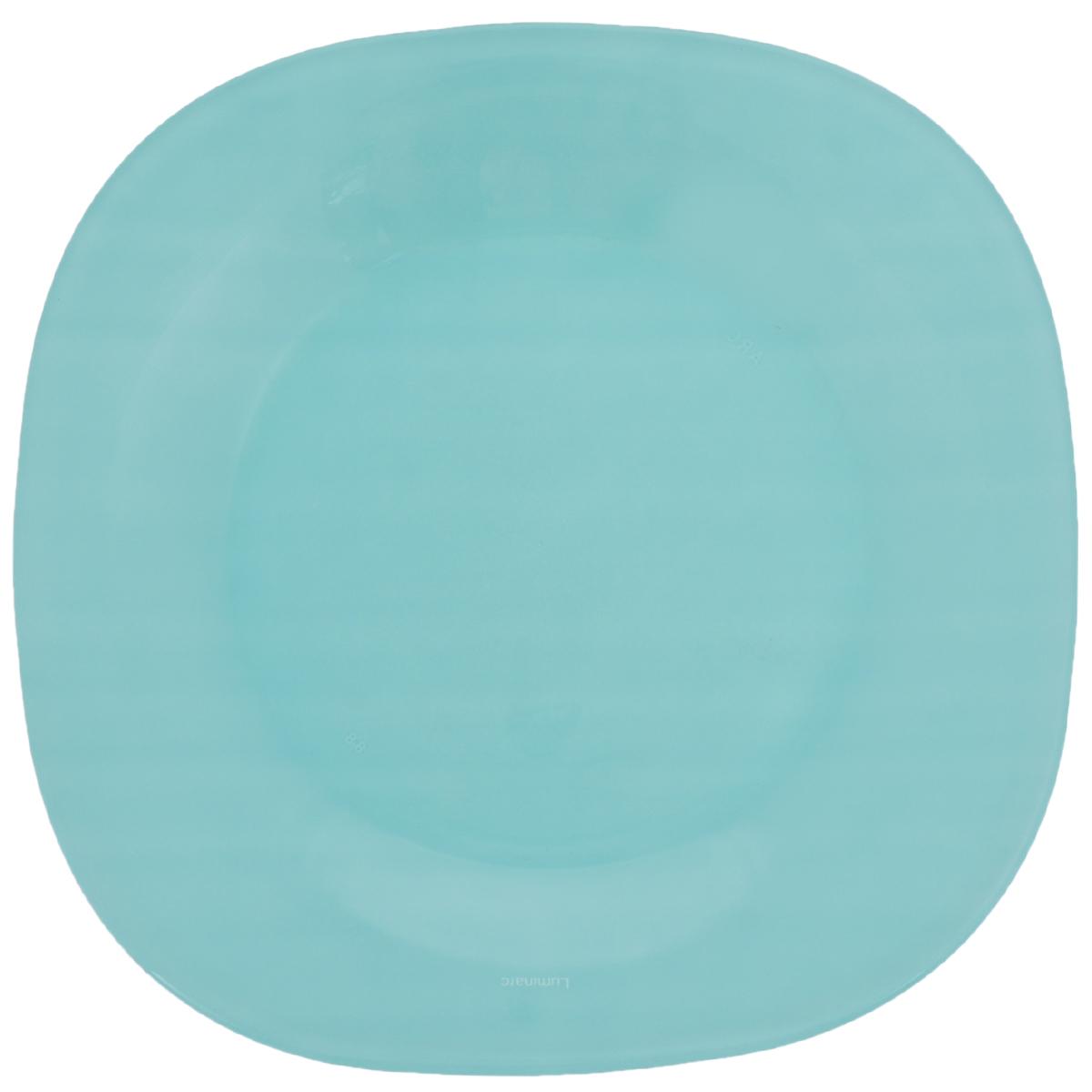 Тарелка десертная Luminarc Carine Colorama, 18 х 18 см115510Десертная тарелка Luminarc Carine Colorama, изготовленная из ударопрочного стекла, имеет изысканный внешний вид. Такая тарелка прекрасно подходит как для торжественных случаев, так и для повседневного использования. Идеальна для подачи десертов, пирожных, тортов и многого другого. Она прекрасно оформит стол и станет отличным дополнением к вашей коллекции кухонной посуды. Размер тарелки: 18 х 18 х 1,8 см.