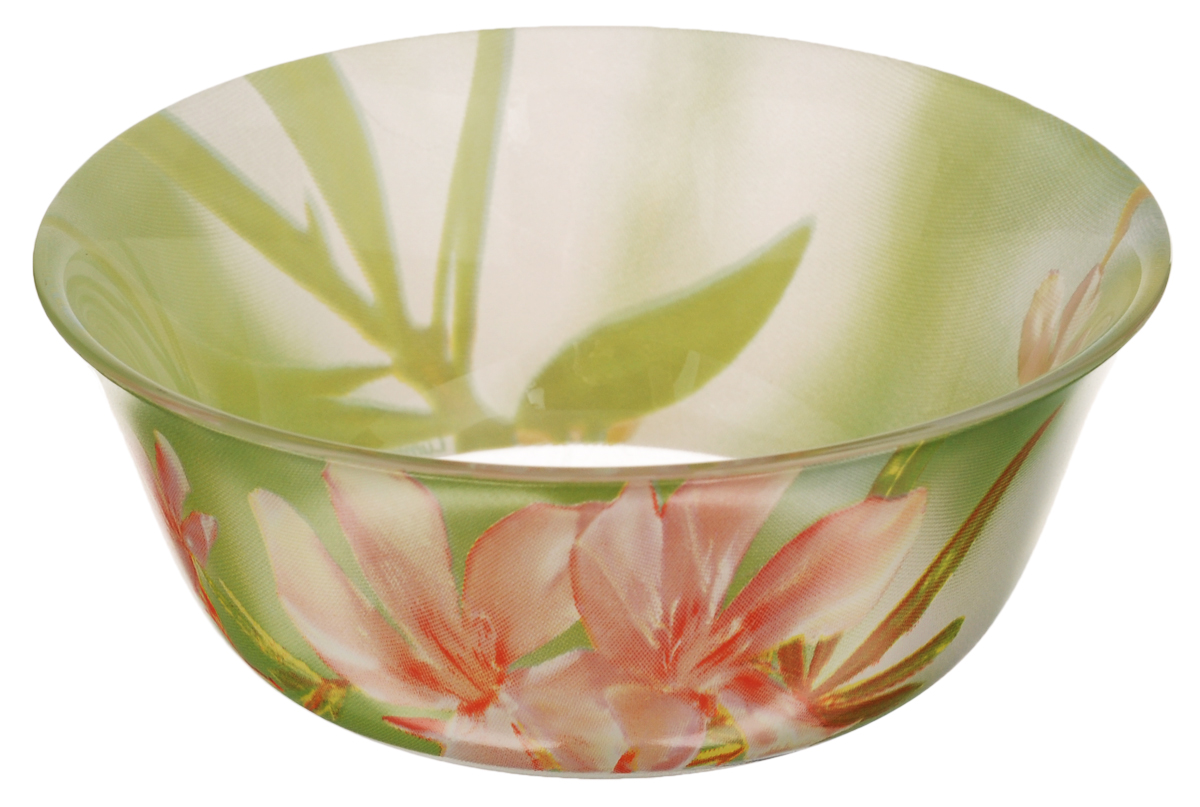 Салатник Luminarc Freesia, диаметр 12 см115510Салатник Luminarc Freesia, изготовленный из высококачественного стекла, прекрасно впишется в интерьер вашей кухни и станет достойным дополнением к кухонному инвентарю. Салатник оформлен ярким рисунком цветов и имеет изысканный внешний вид. Такой салатник не только украсит ваш кухонный стол и подчеркнет прекрасный вкус хозяйки, но и станет отличным подарком.Диаметр по верхнему краю: 12 см.