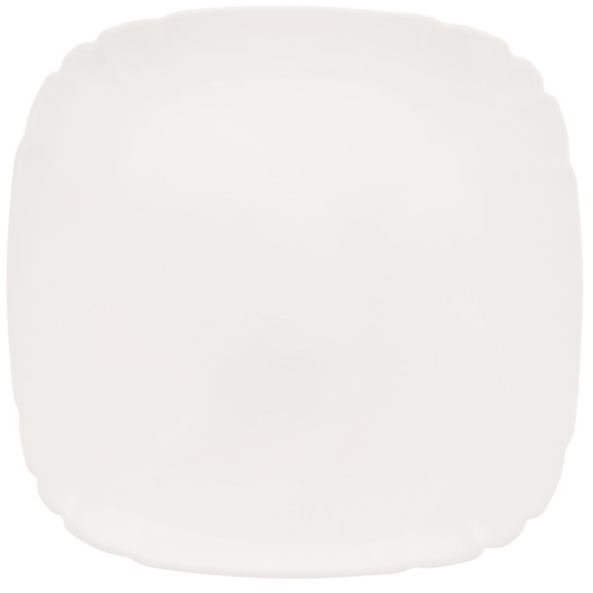 Тарелка десертная Luminarc Lotusia, 20,5 х 20,5 см1571473Десертная тарелка Luminarc Lotusia выполнена из высококачественного стекла. Изделие сочетает в себе изысканный дизайн с максимальной функциональностью. Она прекрасно впишется в интерьер вашей кухни и станет достойным дополнением к кухонному инвентарю. Десертная тарелка Luminarc Lotusia подчеркнет прекрасный вкус хозяйки и станет отличным подарком. Размер тарелки (по верхнему краю): 20,5 х 20,5 см. Высота стенки: 1,7 см.