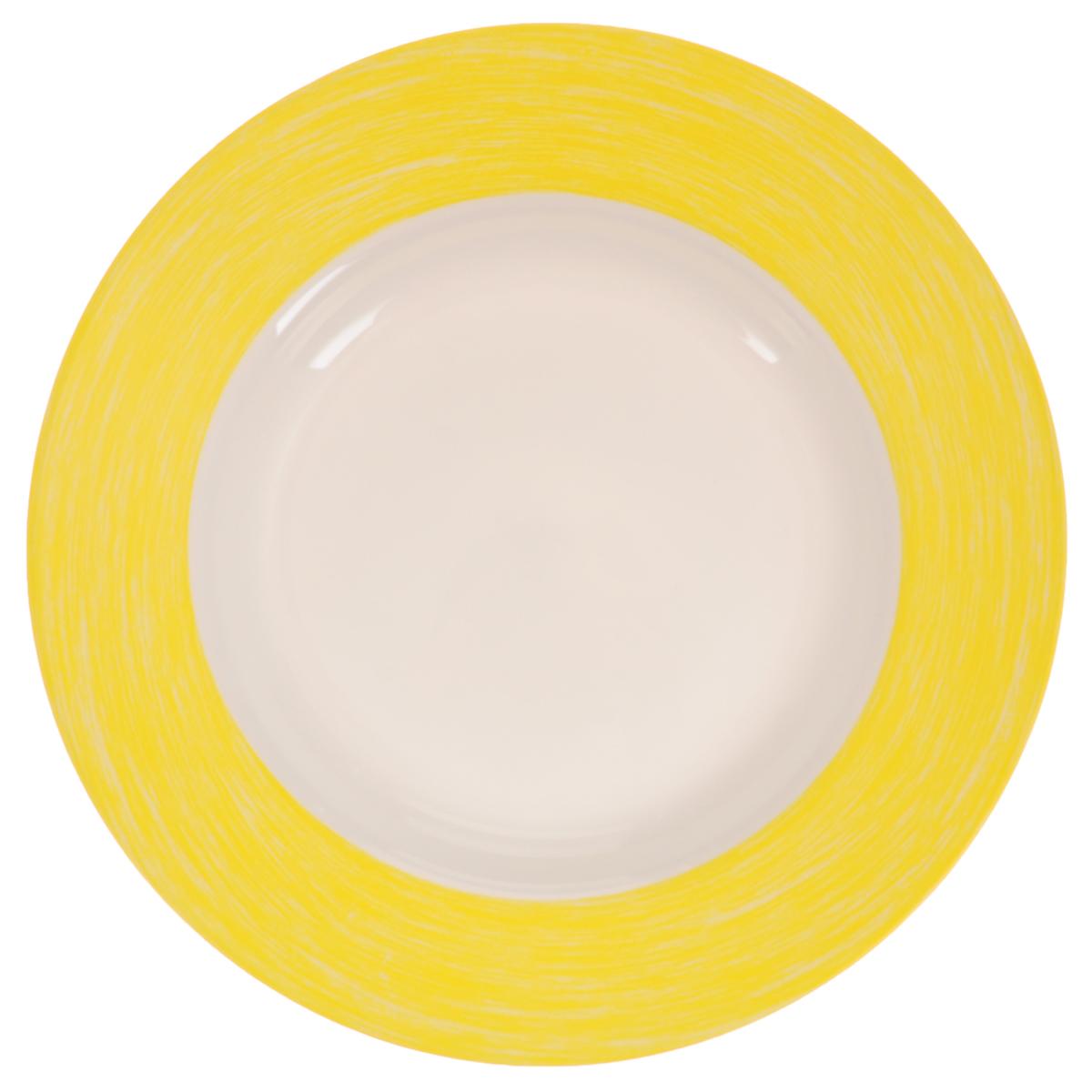 Тарелка глубокая Luminarc Color Days Yellow, диаметр 22 смL1520Глубокая тарелка Luminarc Color Days Yellow, изготовленная из ударопрочного стекла, прекрасно подойдет для подачи различных блюд.Изделие украсит ваш праздничный или обеденный стол, а оригинальное исполнение понравится любой хозяйке. Диаметр тарелки (по верхнему краю): 22 см.