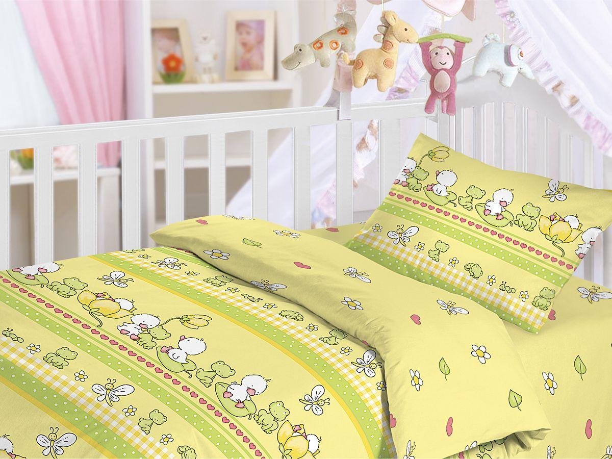 Комплект детского постельного белья Облачко Утята, цвет: желтый, 3 предметаSC-FD421005Детский комплект постельного белья Облачко Утята состоит из наволочки, пододеяльника и простыни. Такой комплект идеально подойдет для кроватки вашего малыша и обеспечит ему здоровый сон. Он изготовлен из бязи (100% хлопок), дарящей малышу непревзойденную мягкость. Натуральный материал не раздражает даже самую нежную и чувствительную кожу ребенка, обеспечивая ему наибольший комфорт. Приятный рисунок комплекта, несомненно, понравится малышу и привлечет его внимание.