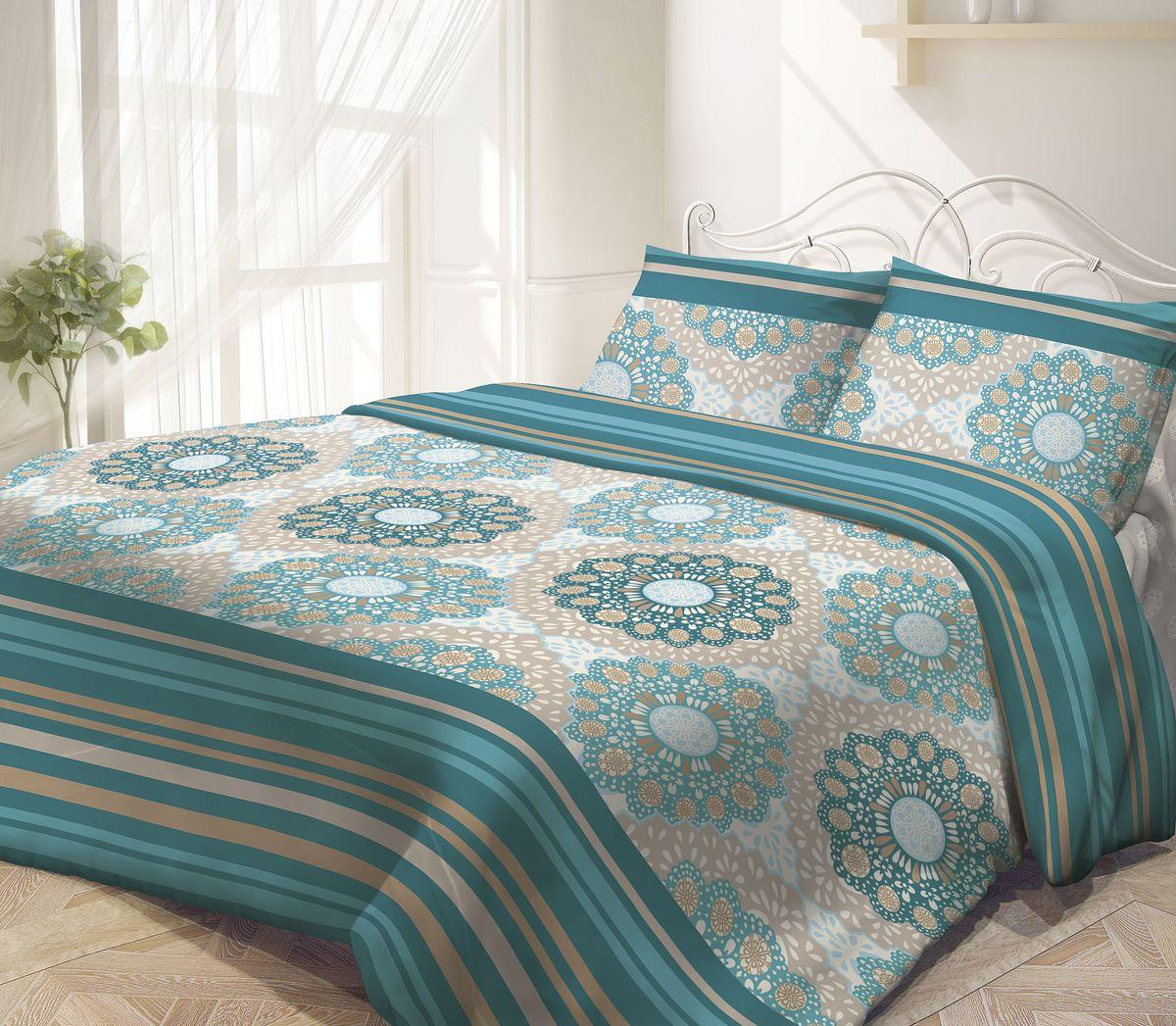 Комплект белья Гармония Восток-Запад, 1,5-спальный, наволочки 50х70, цвет: зеленый, серыйS03301004Комплект постельного белья Восток-Запад является экологически безопасным, так как выполнен из поплина (100% хлопка). Комплект состоит из пододеяльника, простыни и двух наволочек. Постельное белье оформлено красивым орнаментом и имеет изысканный внешний вид. Постельное белье Гармония - лучший выбор для современной хозяйки! Его отличают демократичная цена и отличное качество. Поплин мягкий и приятный на ощупь. Кроме того, эта ткань не требует особого ухода, легко стирается и прекрасно держит форму. Высококачественные красители, которые используются при производстве постельного белья, сохраняют свой цвет даже после многочисленных стирок.