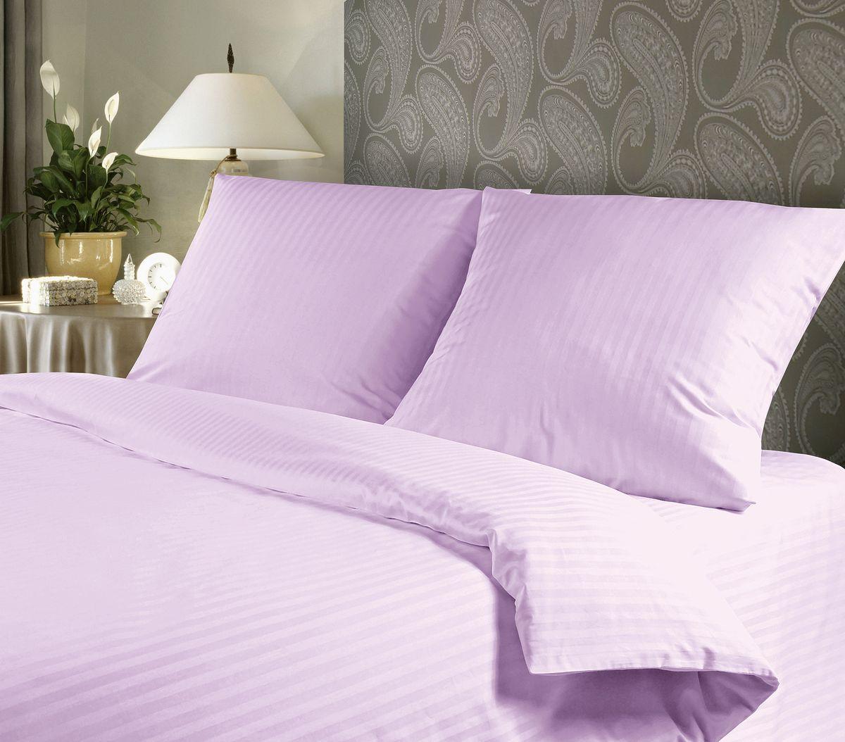 Комплект белья Verossa, 1,5-спальный, наволочки 50х70, цвет: сиреневый93287516Сатин - настоящая роскошь для любителей понежиться в постели. Вас манит его блеск, завораживает гладкость, ласкает мягкость, и каждая минута с ним - истинное наслаждение.Тонкая пряжа и атласное переплетение нитей обеспечивают сатину мягкость и деликатность.Легкий блеск сатина делает дизайны живыми и переливающимися.100% хлопок, не электризуется и отлично пропускает воздух, ткань дышит.Легко стирается и практически не требует глажения.Не линяет, не изменяет вид после многочисленных стирок.