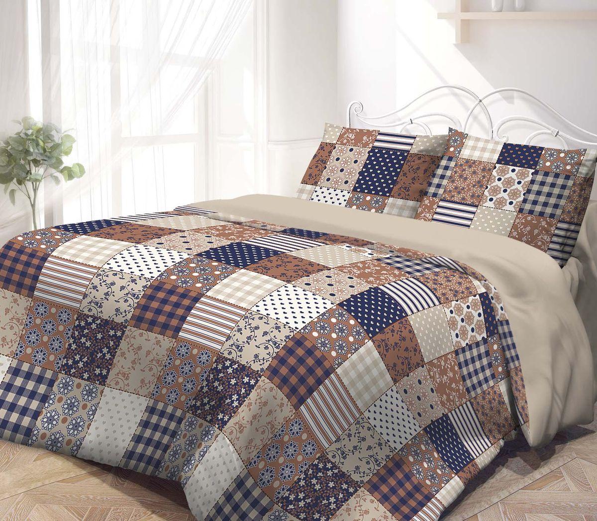 Комплект белья Гармония, 1,5-спальный, наволочки 50х70, цвет: синий, коричневый391602Комплект постельного белья Гармония является экологически безопасным, так как выполнен из поплина (100% хлопка). Комплект состоит из пододеяльника, простыни и двух наволочек. Постельное белье оформлено орнаментом в клеткуи имеет изысканный внешний вид. Постельное белье Гармония - лучший выбор для современной хозяйки! Его отличают демократичная цена и отличное качество. Поплин мягкий и приятный на ощупь. Кроме того, эта ткань не требует особого ухода, легко стирается и прекрасно держит форму. Высококачественные красители, которые используются при производстве постельного белья, сохраняют свой цвет даже после многочисленных стирок.