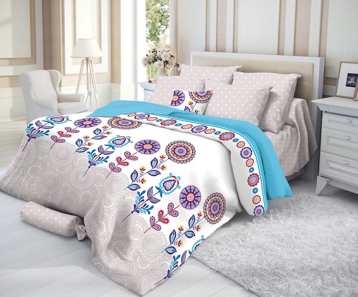 Комплект белья Verossa, 2-спальный, наволочки 50х70, цвет: мультиколорCLP446Сатин - настоящая роскошь для любителей понежиться в постели. Вас манит его блеск, завораживает гладкость, ласкает мягкость, и каждая минута с ним - истинное наслаждение.Тонкая пряжа и атласное переплетение нитей обеспечивают сатину мягкость и деликатность.Легкий блеск сатина делает дизайны живыми и переливающимися.100% хлопок, не электризуется и отлично пропускает воздух, ткань дышит.Легко стирается и практически не требует глажения.Не линяет, не изменяет вид после многочисленных стирок.