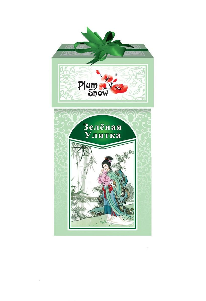 Plum Snow Зеленая улитка зеленый листовой чай, 100 гбак275рPlum Snow Зеленая улитка - зеленый китайский крупнолистовой чай. Без добавок. Настой золотистого цвета и нежный вкус, характерный для зеленого чая высшего сорта.