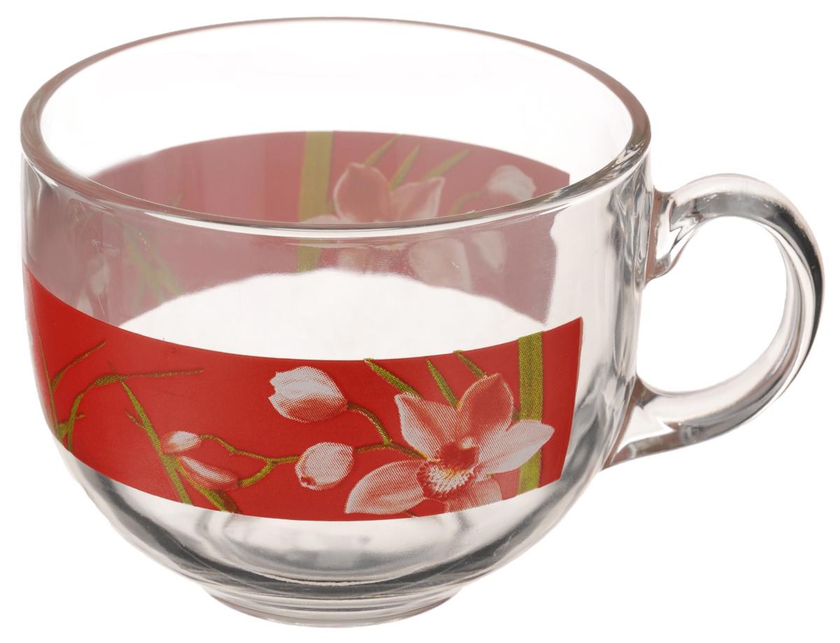 Кружка Luminarc Red Orchis. Джамбо, 500 мл115510Кружка Luminarc Red Orchis. Джамбо изготовлена из ударопрочного стекла. Такая кружка прекрасно подойдет для горячих и холодных напитков. Она дополнит коллекцию вашей кухонной посуды и будет служить долгие годы. Диаметр кружки (по верхнему краю): 10,5 см.