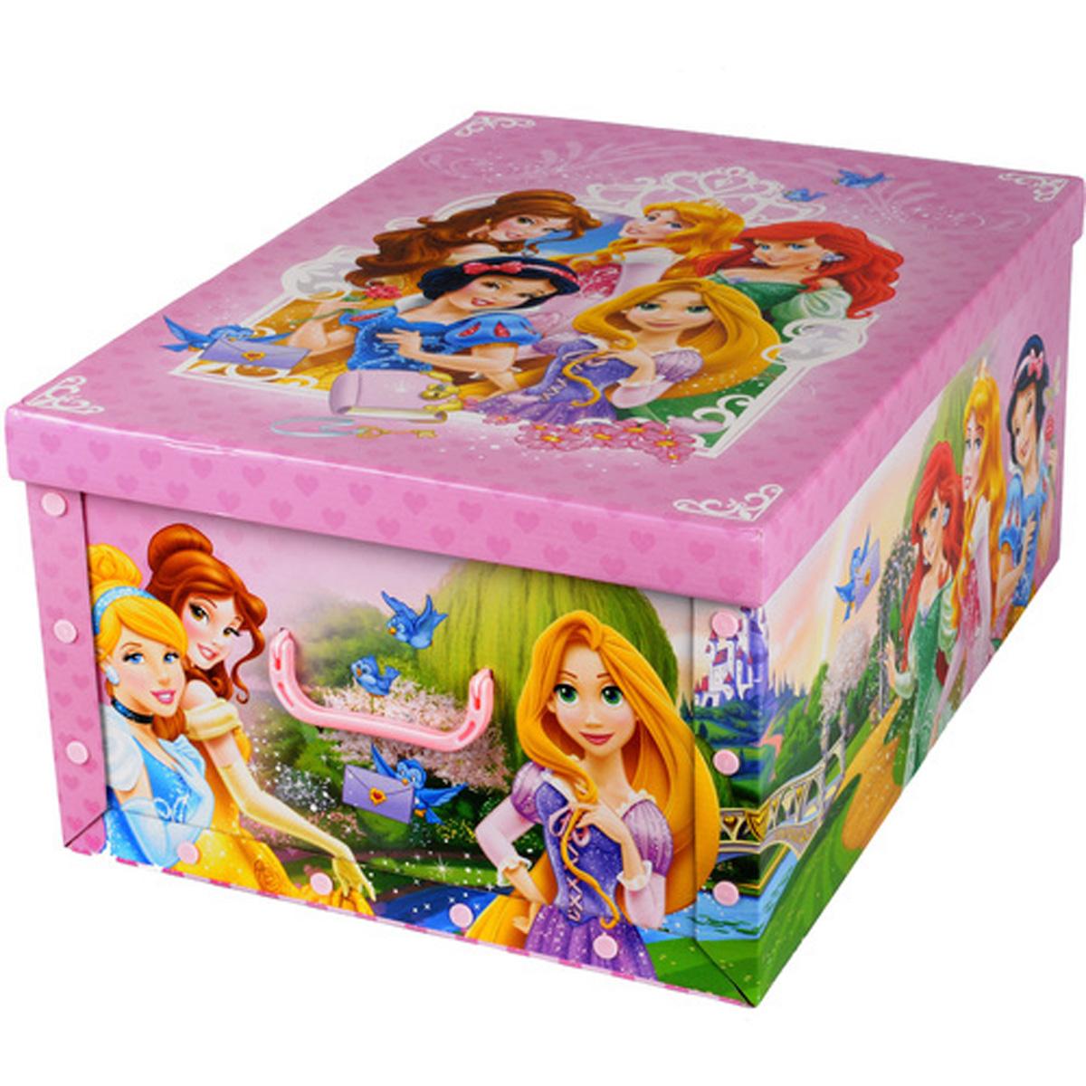 Коробка для хранения Disney Принцессы, 40 х 50 х 25 смU210DFКоробка для хранения Disney Принцессы, выполненная из высококачественного гофрированного картона, идеально подойдет для хранения игрушек, одежды, книг, канцелярских принадлежностей и других мелких предметов. Изделие легко собирается и не занимает много места. Коробка оснащена удобными ручками для транспортировки.Коробка Disney Принцессы поможет хранить все в одном месте, а также защитить вещи от пыли, грязи и влаги. Размер коробки (в собранном виде): 40 х 50 х 25 см.