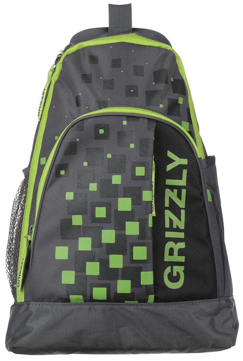 Рюкзак городской Grizzly, цвет: темно-серый, зеленый, 24 л. RU-510-2/4NF-40202Стильный рюкзак Grizzly выполнен из полиэстера, оформлен оригинальным принтом и символикой бренда.Рюкзак содержит одно основное отделение, которое закрывается на молнию. Внутри рюкзака расположены: мягкий карман для планшета или небольшого ноутбука, врезной карман на застежке-молнии. Лицевая сторона рюкзака дополнена врезным карманом на молнии, объемным карманом, внутри которого расположен встроенный органайзер, состоящий из накладного кармашка для телефона и трех фиксаторов для ручек. По бокам изделия, расположены два накладных кармана, один из которых сетчатый. Рюкзак оснащен петлей для подвешивания, а также анатомической лямкой для переноски, фиксирующейся на липучку и дополнительно на пряжку. В нижней части лямки расположен врезной кармашек.Практичный рюкзак станет незаменимым аксессуаром и вместит в себя все необходимое.