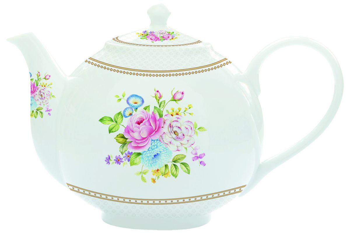 Чайник заварочный Nuova R2S Акварель, с ситом, 1 л115510Изящный и элегантный чайник Nuova R2S Акварель изготовлен из высококачественного фарфора. Съемный фильтр из металла позволит быстро и легко очистить чайник. Заварочный чайник Nuova R2S Акварель станет великолепным подарком для любителей чая.