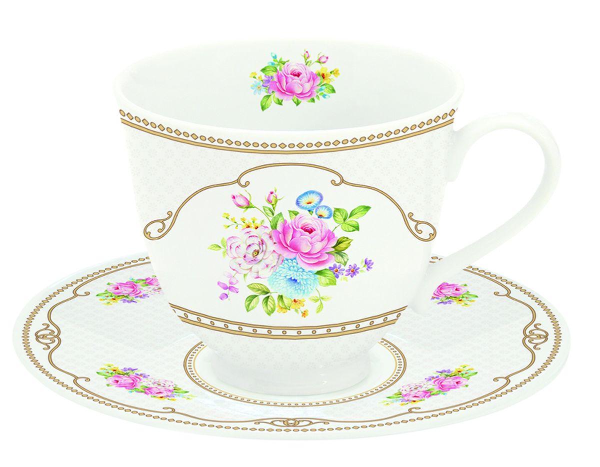 Чайная пара Nuova R2S Акварель, 2 предмета115510Чайная пара Nuova R2S Акварель состоит из чашки и блюдца, изготовленных из высококачественного фарфора. Изделия оформлены оригинальным изображением и имеют изысканный внешний вид.Такой набор прекрасно дополнит сервировку стола к чаепитию и подчеркнет ваш безупречный вкус. Объем чашки: 80 мл.