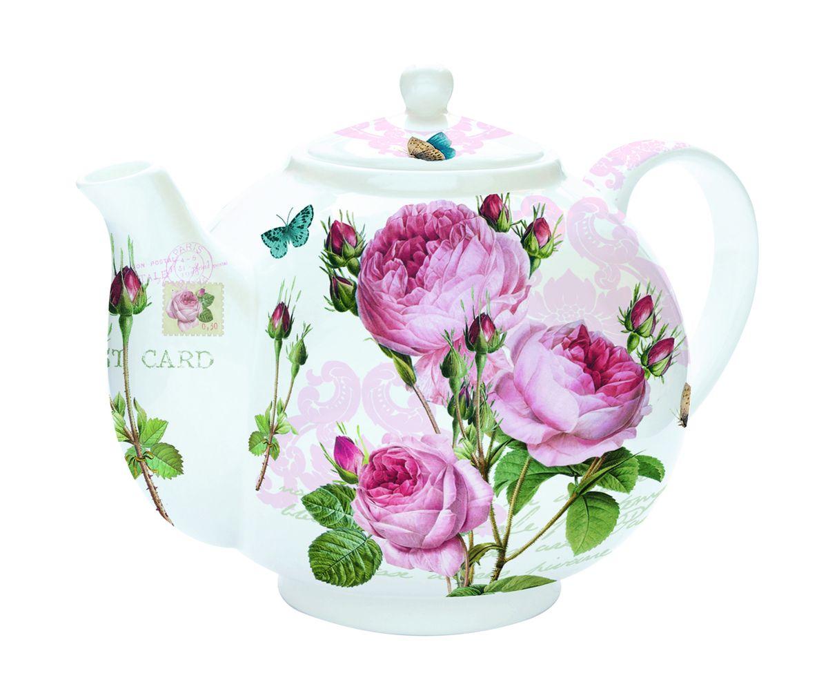 Чайник заварочный Nuova R2S Романтические розы, с ситом, 1 л115510Изящный и элегантный чайник Nuova R2S Романтические розы изготовлен из высококачественного фарфора. Съемный фильтр из стали позволит быстро и легко очистить чайник. Изделие предназначено для подачи как горячих, так и холодных напитков. Заварочный чайник Nuova R2S Романтические розы станет великолепным подарком для любителей чая.
