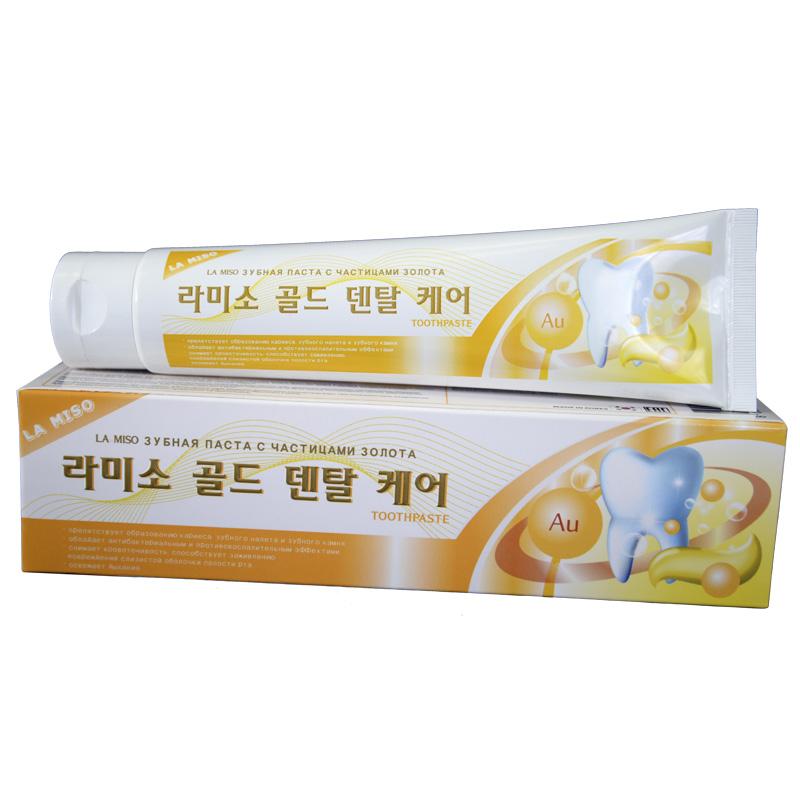 La Miso Зубная паста с частицами золота Gold Dental Care Toothpaste, 150 г зубная паста для собак 8in1 excel canine toothpaste свежее дыхание 92 г
