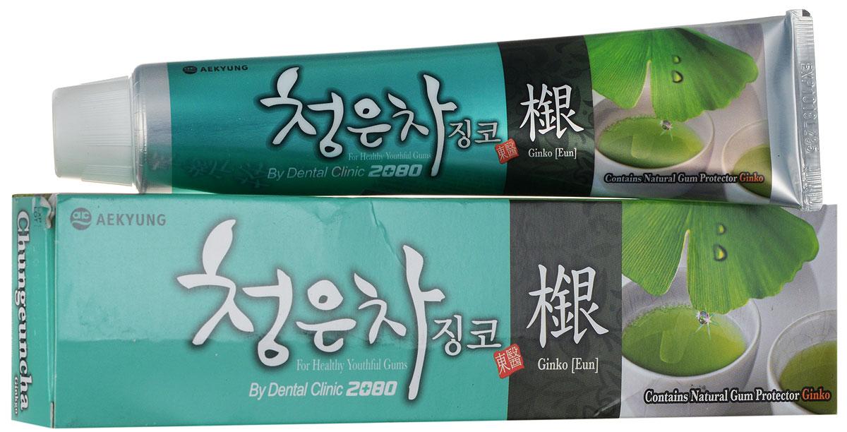 DC 2080 Зубная паста Восточный чай с гинкго, 130 г5010777139655Зубная паста на основе экологически чистых экстрактов лечебных трав. Содержит комплекс восточных чаев (пуэр, кукурузный, гранатовый, солодковый), экстракт зеленых листьев гинкго, соли и витамин В5 для поддержания здоровья и молодости десен. Все зубные пасты серии Восточный чай имеют приятный освежающий вкус и аромат. Не является лекарством. Характеристики:Вес: 130 г. Артикул: 891964. Производитель: Корея. Товар сертифицирован.