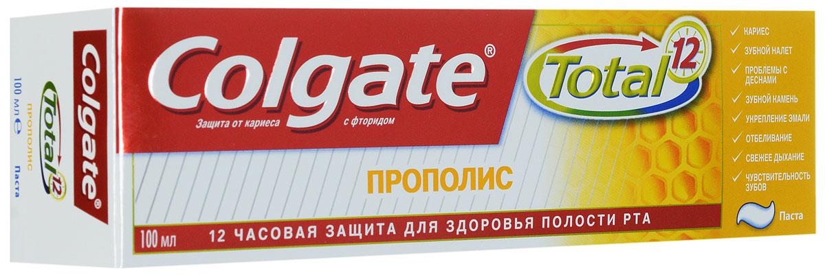 Colgate Зубная паста TOTAL12 Прополис 100 млMP59.4DЗубная паста Colgate® Total Прополис содержит Прополис, известный своими лечебными свойствами и помогает сохранить ваши зубы и десны здоровыми.