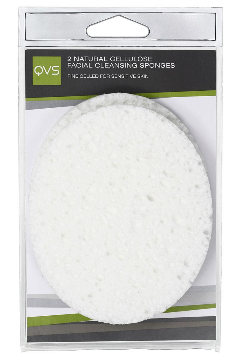 QVS Очищающие спонжи для лица из натуральной целлюлозы, овальные, 2 шт1301210Очищающие спонжи для лица из натуральной целлюлозы, овальные
