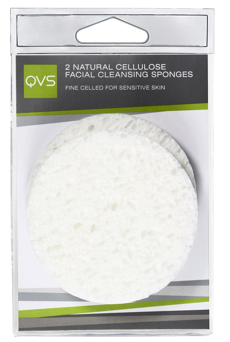 QVS Очищающие спонжи для лица из натуральной целлюлозы, круглые, 2 шт каталог qvs 2 sakt12