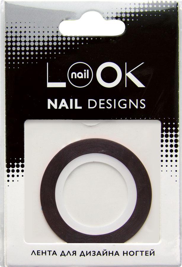 nailLOOK Лента для дизайна ногтей Stripping tape, цвет: красный красный50225Striping tape Лента для дизайна ногтей, красный