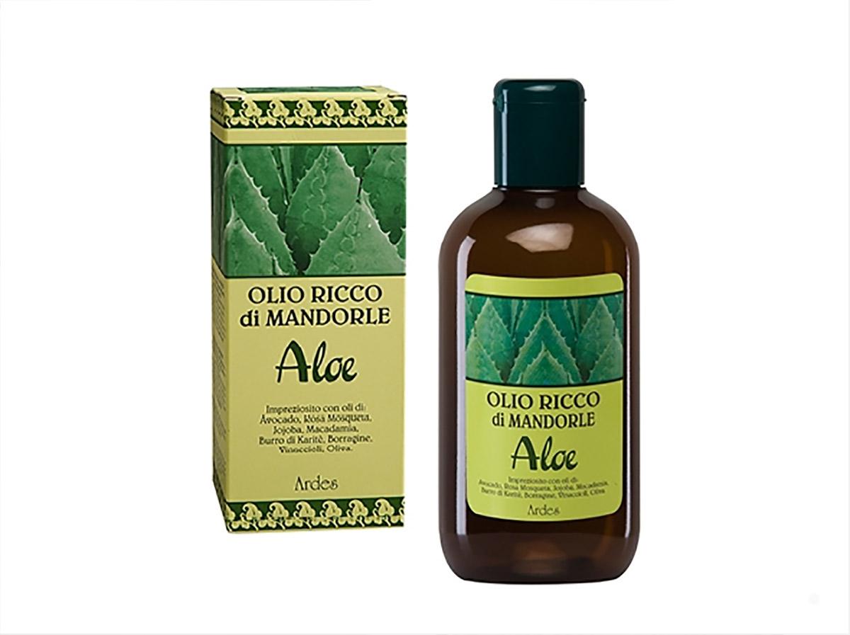 Ardes Масло обогащенное миндалем и Алое для лица, тела, волос, 250 мл. Olio Ricco di Mandorle Aloe LINEA RICCA ALOE1072N10781Шелк для Вашей кожи. Оказывает успокаивающеедействие, укрепляющее, от растяжек, от морщин, питательное действие после солнца и после ванной, идеально подходит для массажа, оказывает защищающее действие от внешних факторов. Подходит для всехз типов кожи, как для деликатной и нежной кожи младенца так и для беременной женщины.