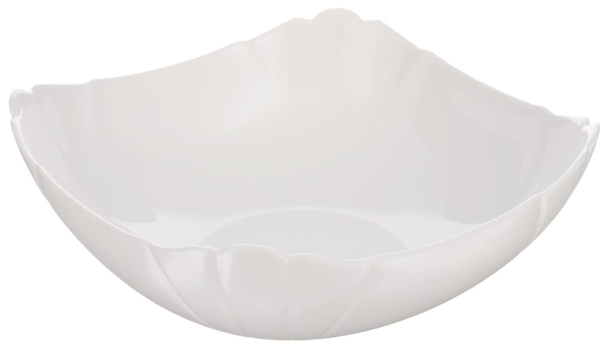 Миска Luminarc Lotusia, 15 х 15 см68/5/3Миска Luminarc Lotusia выполнена из высококачественного стекла. Изделие сочетает в себе изысканный дизайн с максимальной функциональностью. Она прекрасно впишется в интерьер вашей кухни и станет достойным дополнением к кухонному инвентарю. Миска Lotusia подчеркнет прекрасный вкус хозяйки и станет отличным подарком. Размер миски (по верхнему краю): 15 х 15 см. Высота стенки: 5,7 см.