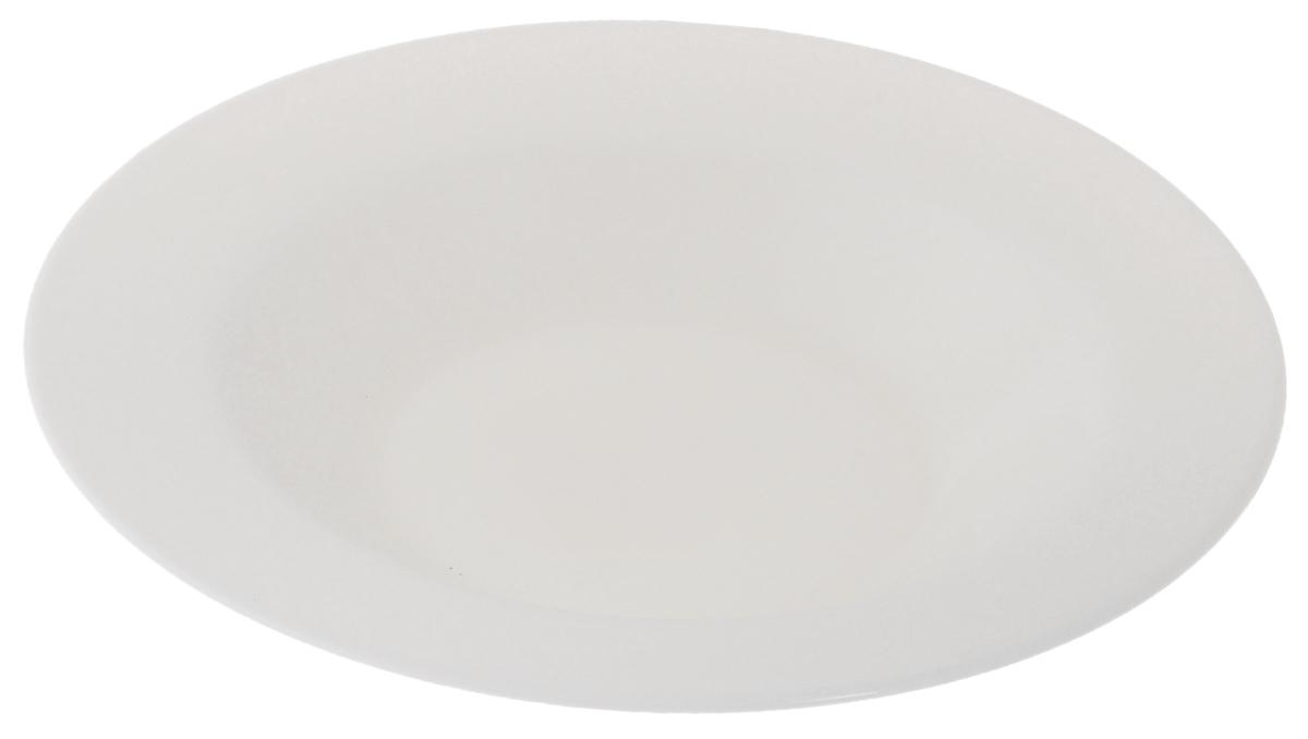 Тарелка глубокая Luminarc Presidence Bone, диаметр 23 см115610Глубокая тарелка Luminarc Presidence Bone выполнена из высококачественного стекла. Изделие сочетает в себе изысканный дизайн с максимальной функциональностью. Она прекрасно впишется в интерьер вашей кухни и станет достойным дополнением к кухонному инвентарю. Глубокая тарелка Luminarc Presidence Bone подчеркнет прекрасный вкус хозяйки и станет отличным подарком. Диаметр тарелки (по верхнему краю): 23 см.Высота стенки: 3,8 см.