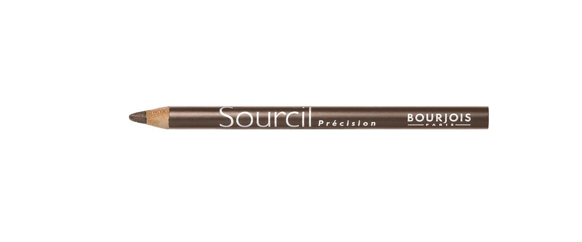 Bourjois контурный карандаш для бровей sourcil precision Тон 07 noisette 1 млFM 5567 weis-grauБрови играют решающую роль в характере взгляда. Плотная текстура карандаша позволяет наполнить брови красивым, натуральным цветом. Идеальная щеточка придает бровям безупречный вид. Карандаш Sourcil Precision не растекается и позволяет при желании изменить форму брови.