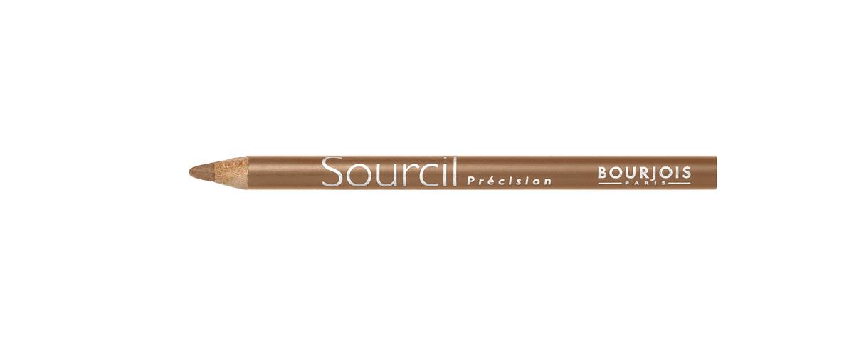 Bourjois контурный карандаш для бровей sourcil precision Тон 06 blond clair 1 мл28032022Плотная текстура карандаша позволяет наполнить брови красивым, натуральным цветом. Идеальная щеточка придает бровям форму. Карандаш не растекается и позволяет при желании изменить форму бровей.