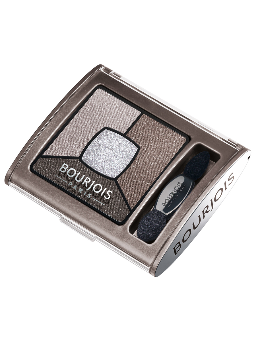 Bourjois Палитра теней для век Smoky Stories Тон 05 good nude 3 млSatin Hair 7 BR730MNПалетка из четырех оттенков, которые обладают кремово-пудровой текстурой, максимально адаптируются и долго держатся на подвижном веке.