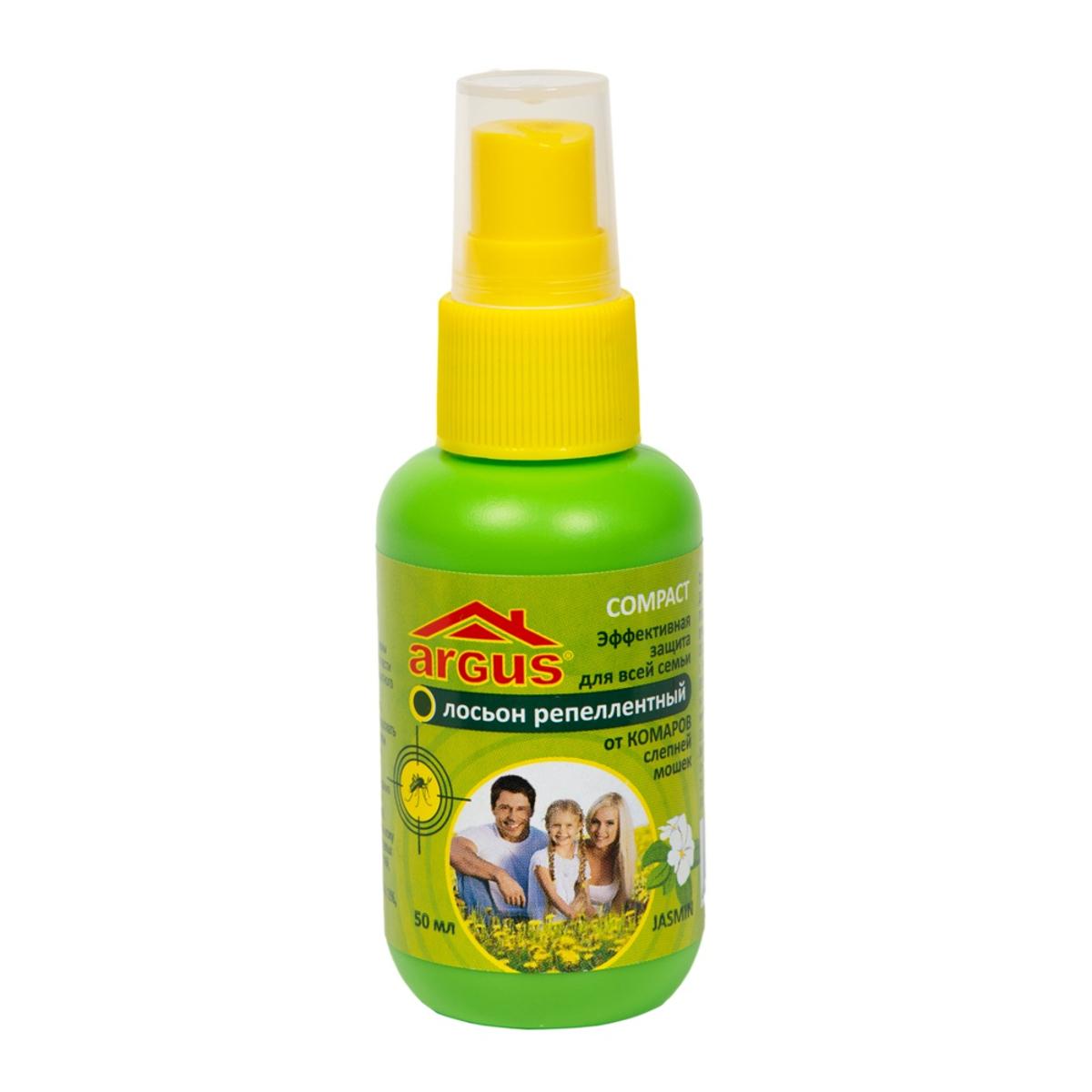 Аэрозоль от насекомых Argus, 50 млBH-SI0439-WWАэрозоль Argus используется для защиты людей от нападения кровососущих насекомых (комаров, мокрецов, москитов, слепней). Наносится на открытые части тела.Состав: N,N-диэтил-м-толуамид (ДЭТА) 18%, отдушка, спирт изопропиловый.