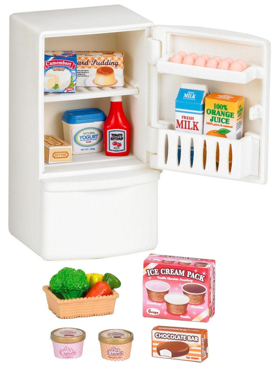 """Игровой набор Sylvanian Families """"Холодильник с продуктами"""" привлечет внимание вашей малышки и не позволит ей скучать. Набор включает в себя холодильник, продукты и наклейки на продукты. Холодильник оснащен открывающейся дверцей и вынимающейся морозильной камерой. Ваша малышка будет часами играть с набором, придумывая различные истории. """"Sylvanian Families"""" - это целый мир маленьких жителей, объединенных общей легендой. Жители страны """"Sylvanian Families"""" - это кролики, белки, медведи, лисы и многие другие. У каждого из них есть дом, в котором есть все необходимое для счастливой жизни. В городе, где живут герои, есть школа, больница, рынок, пекарня, детский сад и множество других полезных объектов. Жители этой страны живут семьями, в каждой из которой есть дети. В домах """"Sylvanian Families"""" царит уют и гармония. Домашние животные радуют хозяев. Здесь продумана каждая мелочь, от одежды до мебели и аксессуаров."""