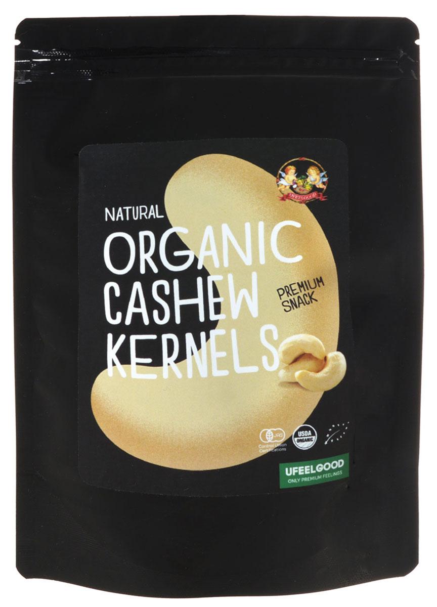 UFEELGOOD Organic Cashew Kernels органический кешью, 100 г0120710UFEELGOOD производит крупные целиковые ядра кешью без добавления генетически модифицированных организмов. Многие гурманы предпочитают кешью другим орехам за счет оригинальных вкусовых качеств. Этот продукт обладает не только потрясающим вкусом, но и многими полезными свойствами.За счет множества антиоксидантов в составе, кешью омолаживает организм изнутри, предотвращая процессы старения. Идеальное для организма соотношение жиров, делает орехи особенно полезными для сердца. В кешью содержатся насыщенные, полиненасыщенные и мононенасыщенные жиры. В орехах найдено большое количество растительного белка, железа и других микроэлементов.Полезные свойства кешью: благодаря содержанию жирных кислот он помогает сохранить здоровье сердца и сосудов, магний способен поддерживать здоровье костей и зубов. Он расслабляет кровяные сосуды, понижает давление. Значительное количество меди сохраняет кости, суставы и кровеносные сосуды, а антиоксиданты предотвращают старение кожи и всего организма. Употребление кешью бережет нервы, восстанавливает качественную работу нервной системы.