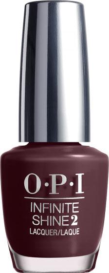 """OPI Лак для ногтей Infinite Shine Stick to Your Burgundies, 15 млUPC 1102""""Линия Infinite Shine была разработана в ответ на желание покупателей получить лаковые покрытия, по свойствам не уступающие гелевым, которые при этом имели бы самые модные оттенки, обладали уникальной формулой и носили культовые имена, которыми так знаменита компания OPI,"""" - объясняет Сюзи Вайс-Фишманн, соучредитель и исполнительный вице-президент OPI. """"Покрытие Infinite Shine наносится и снимается точно так же, как и обычные лаки для ногтей, однако вы получаете те самые блеск и стойкость, которые отличают гелевую формулу!"""" Палитра Infinite Shine включает в себя широкий спектр оттенков, от нейтральных до ярко-красных, оранжевых, розовых, а далее до темно-серых, синих и черного. Лаки Infinite Shine имеют запатентованную формулу. Каждый флакон снабжен эксклюзивной кистью ProWide™ для идеального нанесения."""