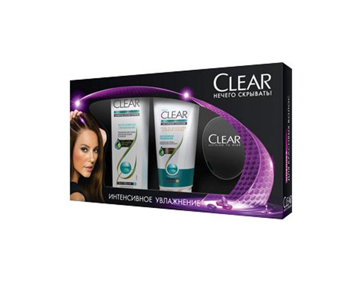 Clear Подарочный набор: Интенсивное увлажнение: Шампунь 200мл + Бальзам 180мл + Расческаперфорационные unisexШампунь Интенсивное увлажнение помогает активировать естественную защиту кожи головы. Больше не нужно беспокоиться о перхоти! Поддерживает естественный уровень увлажнения кожи головы и волос. Ежедневная программа ухода с экстрактом кактуса для увлажнения кожи головы и красоты ваших волос. Для сухих волос и кожи головы. Важно знать: увлажнение кожи головы является ключевым фактором в борьбе с перхотью. Clear Интенсивное увлажнение помогает создать условия для увлажнения кожи головы, а значит, для красивых волос без перхоти. Применение: 1. После мытья волос шампунем нанесите массирующими движениями на кожу головы для восстановления необходимого уровня увлажненности. 2. Для увлажнения и красоты волос распределите средство от корней до кончиков, затем смойте. 3. Используйте ежедневно вместе с шампунем CLEAR Интенсивное Увлажнение для наилучшего результата.