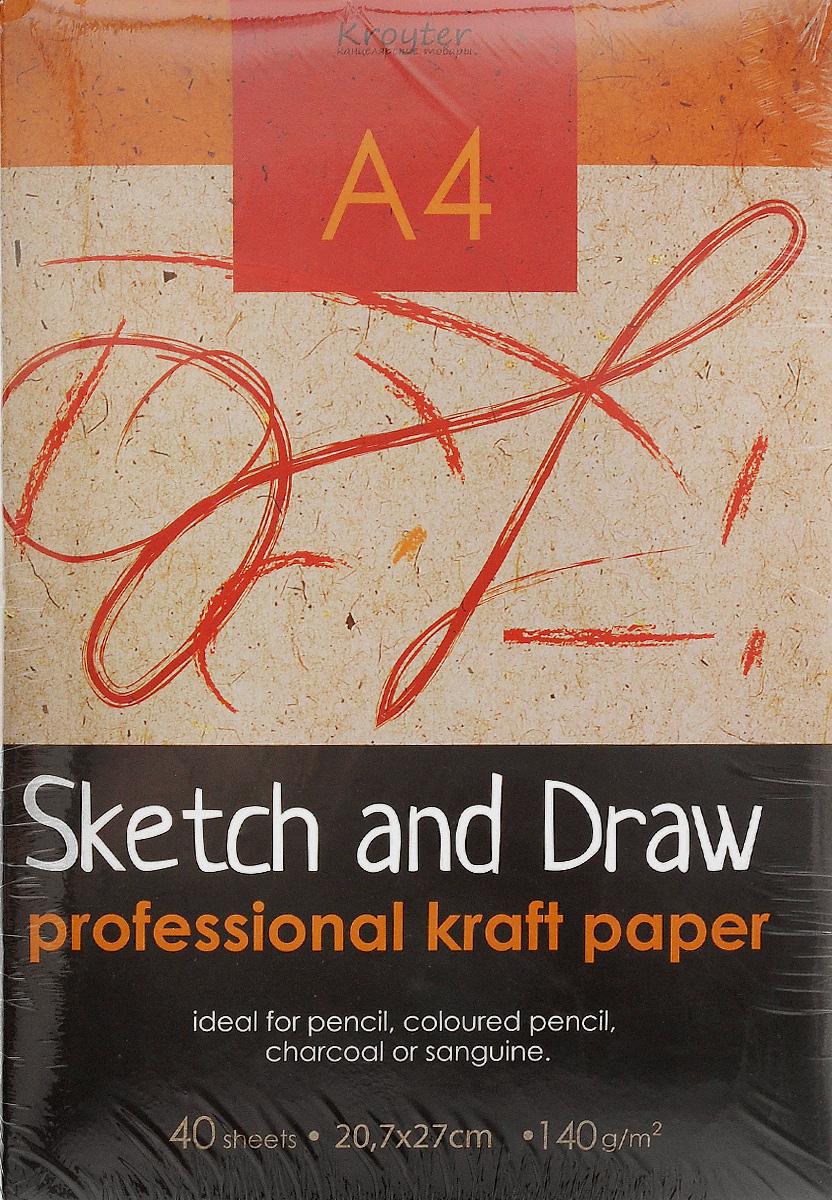 Папка для рисования и эскизов Kroyter, 40 листов, формат А42010440Папка Kroyter предназначена для эскизов и рисования. Содержит 40 листов бумаги, которые идеально подходит для работ карандашами, пастелью, углем. Обложка - высококачественный мелованный картон. Использованные листы удобно хранить в папке.